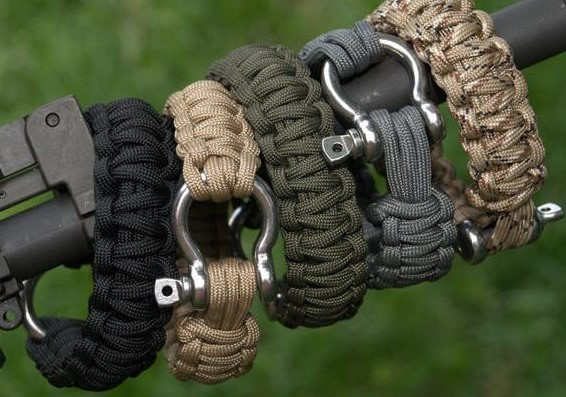 Браслеты из полипропилена, текстильного шнура
