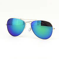 Окуляри TOP Aviator краплі сонцезахисні Blue-Green S