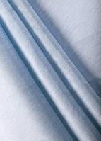 Ткань однотонный софт коттон белый+голубой, фото 1