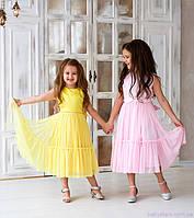 Платье для девочки, цвет розовый, код: 7033, размеры: от 98 до 134