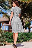 Романтичное Летнее платье в полоску 42-60р, фото 5