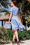 Романтичное Летнее платье в полоску 42-60р, фото 8