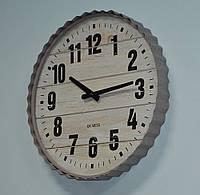 Дерев'яний годинник (40 см. дерево, метал), фото 1