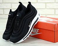 Кроссовки мужские Nike Air Max 97 в стиле Найк Аир Макс 97, черные с белой подошвой