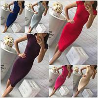 Платье с идеальной посадкой по фигуре из трикотажа Миди 13 цветов размеры