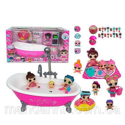 """Игровой набор """"Ванная для ЛОЛ (LOL)""""  TM923. С крана течет вода."""