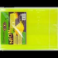 Набор обложек для учебников 1-11 класс Zibi KIDS Line NEON с клапаном, 5 шт, желтый (ZB.4750-08) (5 шт)