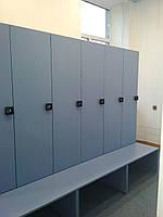 Шкаф в спортзал с электронным кодовым замком.