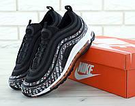 Кроссовки мужские Nike Air Max 97 Just Do It в стиле Найк Аир Макс 97 Джаст Ду Ит, черные