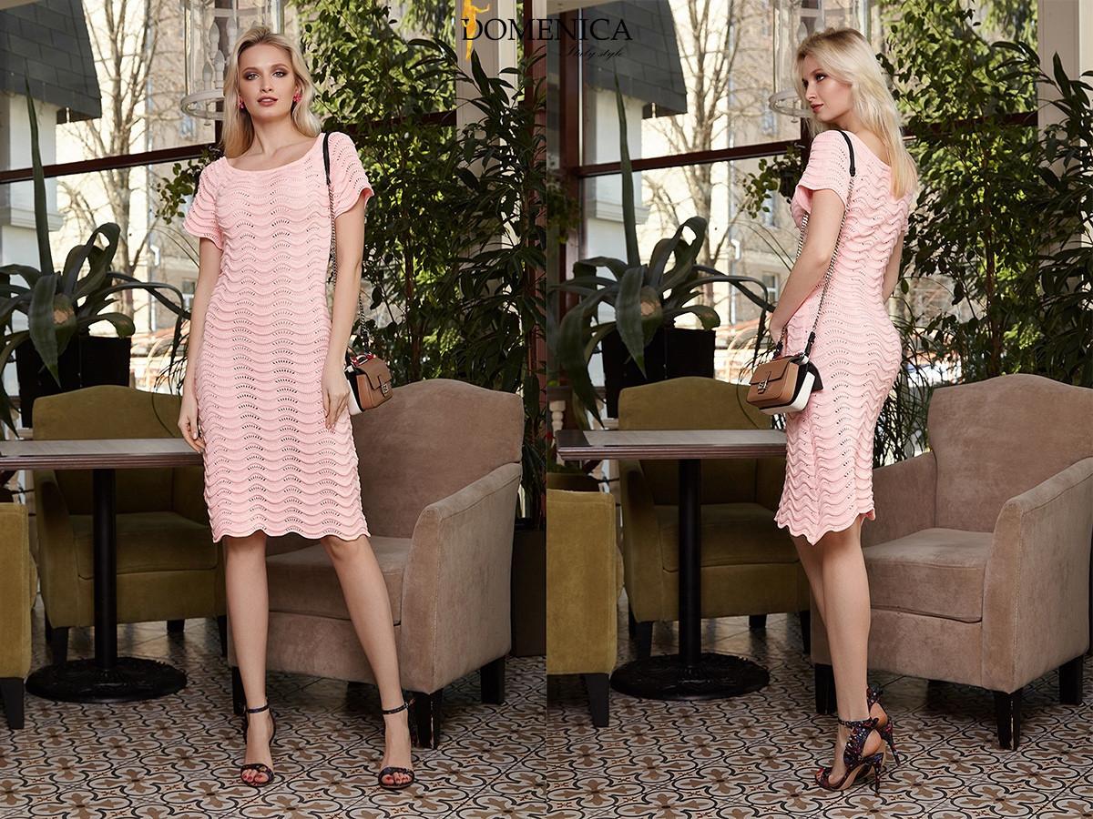 2f743c01fe8 Купить Прямое лёгкое платье из пряжи длиной миди tez31032623 ...
