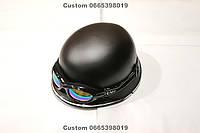 Шлем каска черная матовая с очками хамелеон