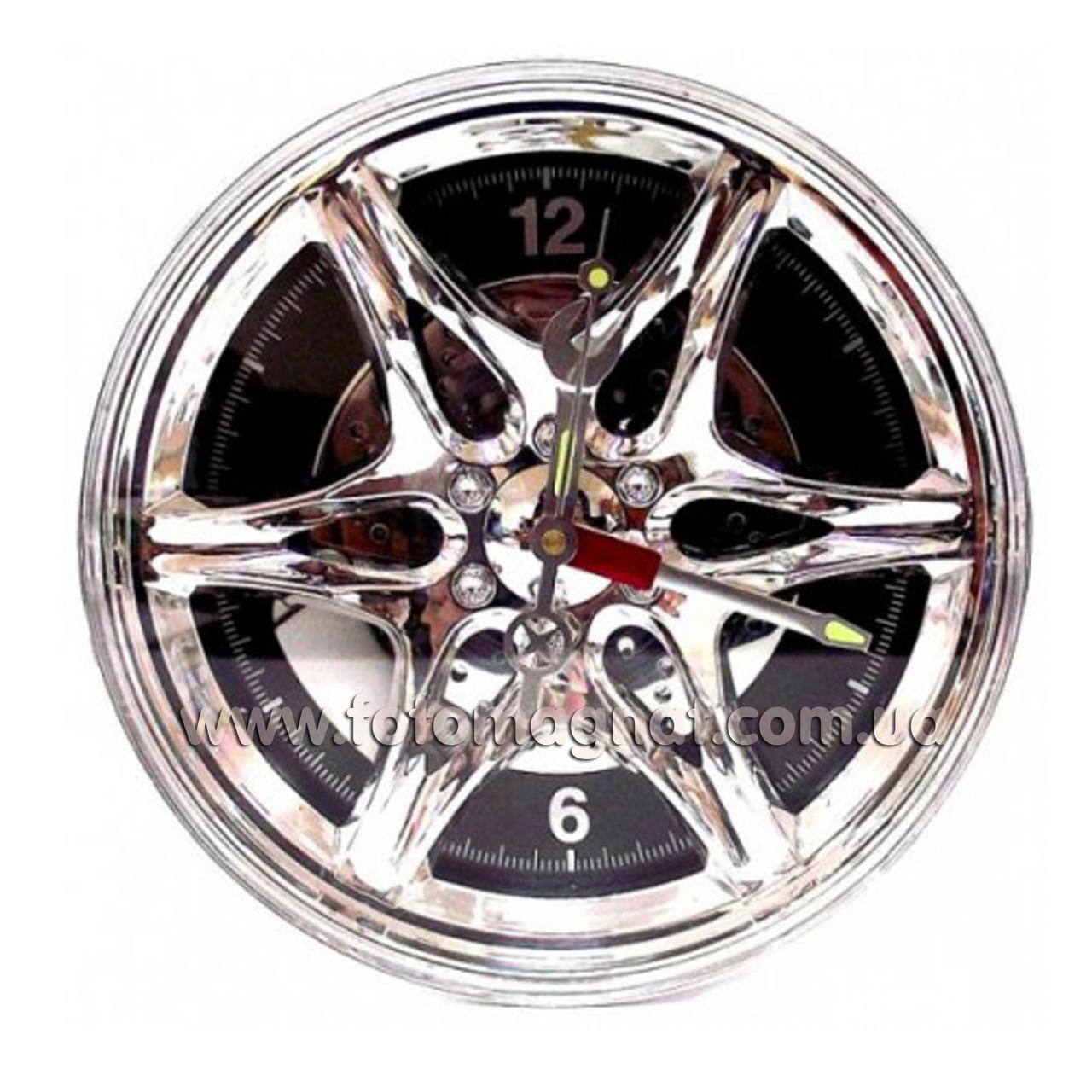 Часы-шина.(Чёрные) 28х28 см.