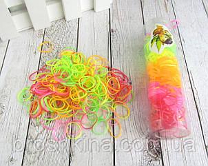 Маленькие силиконовые резиночки для волос цветные яркие 12 шт/уп.