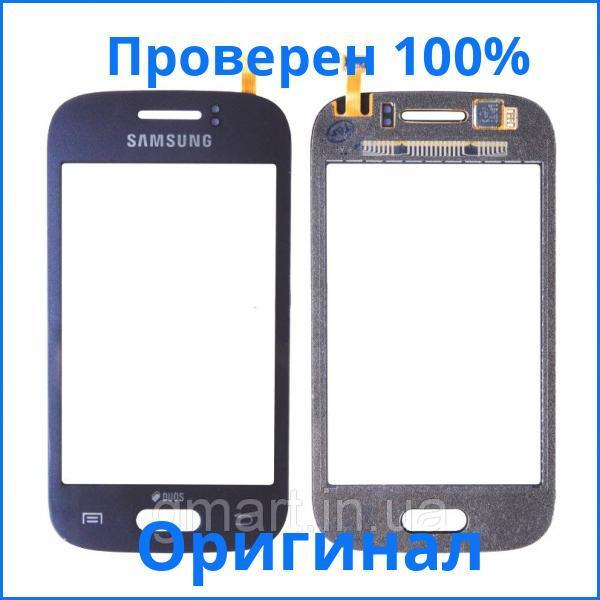 Оригинальный сенсорный экран Samsung S6312 Galaxy Young Duos черный (тачскрин, стекло в сборе), Оригінальний сенсорний екран Samsung S6312 Galaxy