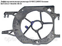 Диффузор вентилятора радиатора 1.9 DCI 2.0DCI 1секц. NISSAN PRIMASTAR 00-14 (НИССАН ПРИМАСТАР)