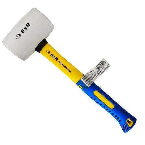 Молоток резиновый d 55 мм, 450 г белый S&R  (285450055)