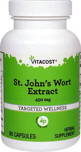 Vitacost St. John's Wort Extract  Зверобой экстракт 450 мг 90 капс
