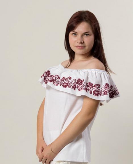 "Блуза - вышиванка ""Цветочный сад"""