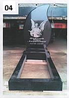 Дитячий пам'ятник з ангелом у формі каплі із граніту