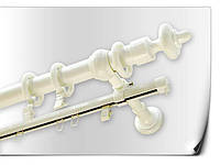 Карниз трубчатый белый +шина 1,6м