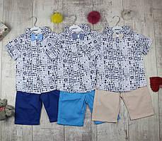 Костюмы детские оптом для мальчика тениска и шорты № 5033