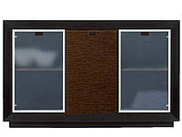 Комод-витрина Корвет МР-2742 (БМФ) 1510х970х970мм золотая лоза