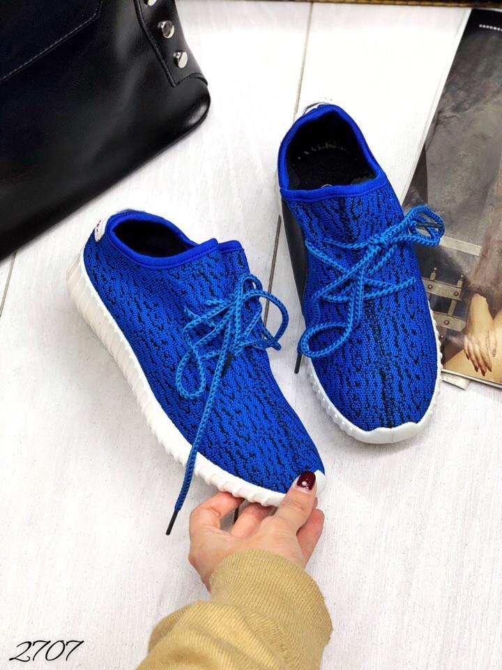 Кеды легкие текстиль синий Электик бувной текстиль 38, 39 и 40 размеры