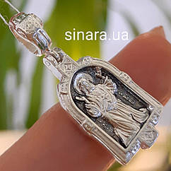 Серафим Саровский кулон иконка серебряная - Серебряная ладанка Святой Серафим