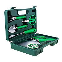 Портативный набор садовых инструментов GARDENIA PRO 7в1, в чемодане