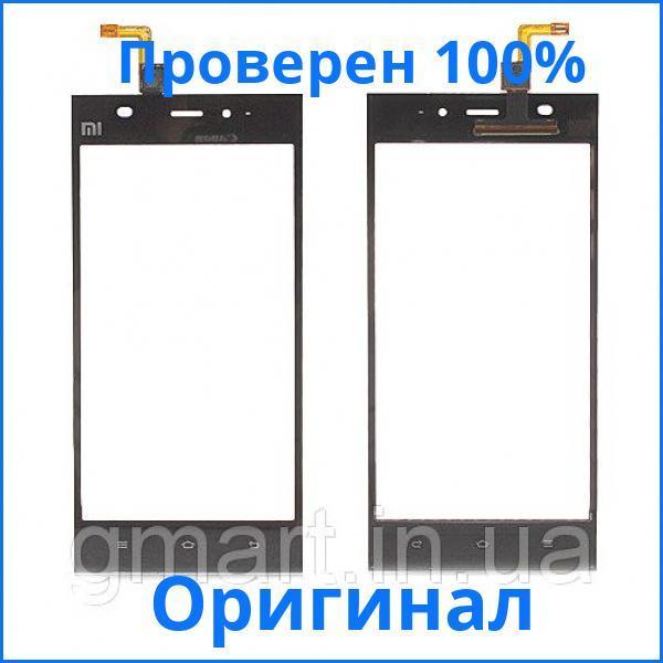Оригинальный сенсорный экран Xiaomi Mi3 черный (тачскрин, стекло в сборе), Оригінальний сенсорний екран Xiaomi Mi3 чорний (тачскрін, скло в зборі)