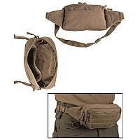 Поясная сумка с системой Molle, койот. Mil-Tec, Германия.