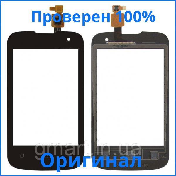 Оригинальный сенсорный экран Fly IQ430 Evoke черный (тачскрин, стекло в сборе), Оригінальний сенсорний екран Fly IQ430 Evoke чорний (тачскрін, скло в