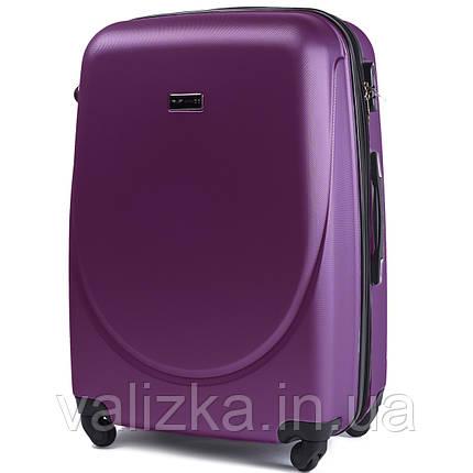 Большой пластиковый чемодан Wings 310  темно-фиолетовый, фото 2