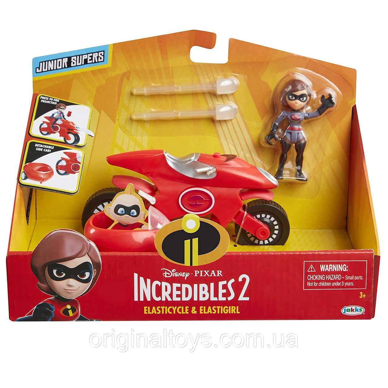 Ігровий набір фігурка Еластику Хелен Парр на мотоциклі Суперсімейка 2 The Incredibles 2