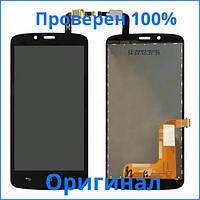 Оригинальный дисплей Huawei Honor 3C Lite U19 черный (LCD экран, тачскрин, стекло в сборе), Оригінальний дисплей Huawei Honor 3C Lite U19 чорний (LCD