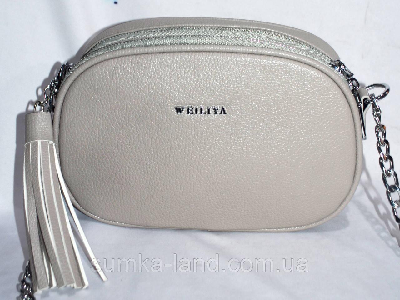ea5713de3d31 Женский серый клатч из искусственной кожи на ремешке с цепочкой 22*15 см