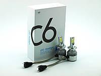 LED C6 H7 COB 6500k 3800Lm 35w 12v-24v, светодиодные автомобильные лампы основного света