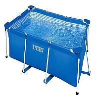 Каркасный бассейн прямоугольный, бассейн большой каркасный Intex 28271 NP, 260x160x65 см, 2282л.