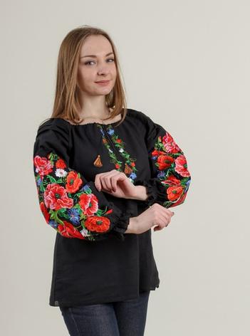 """Блуза - вышиванка """"Летняя ночь"""", фото 2"""