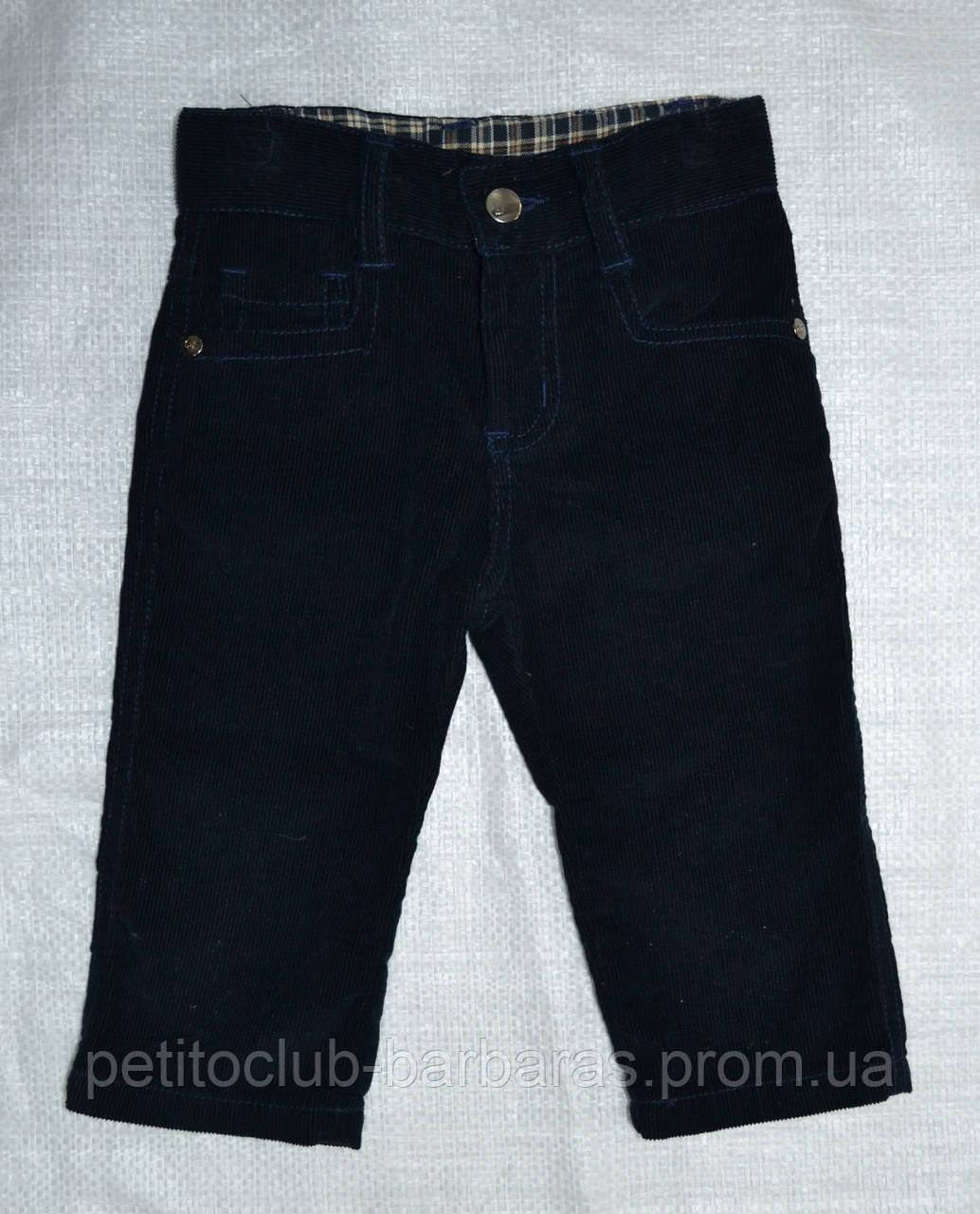 Детские брюки вельветовые темно-синие (QuadriFoglio, Польша)