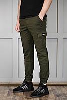 Мужские спортивные штаны на манжетах хаки отличное качество, фото 1