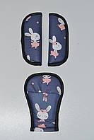 Накладки на ремни кролики