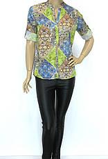 блузка- сорочка з яскравим квітковим принтом , фото 3