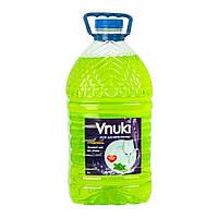 Засіб для миття посуду Vnuki з гліцерином, Зелений чай і м'ята. 5 л.