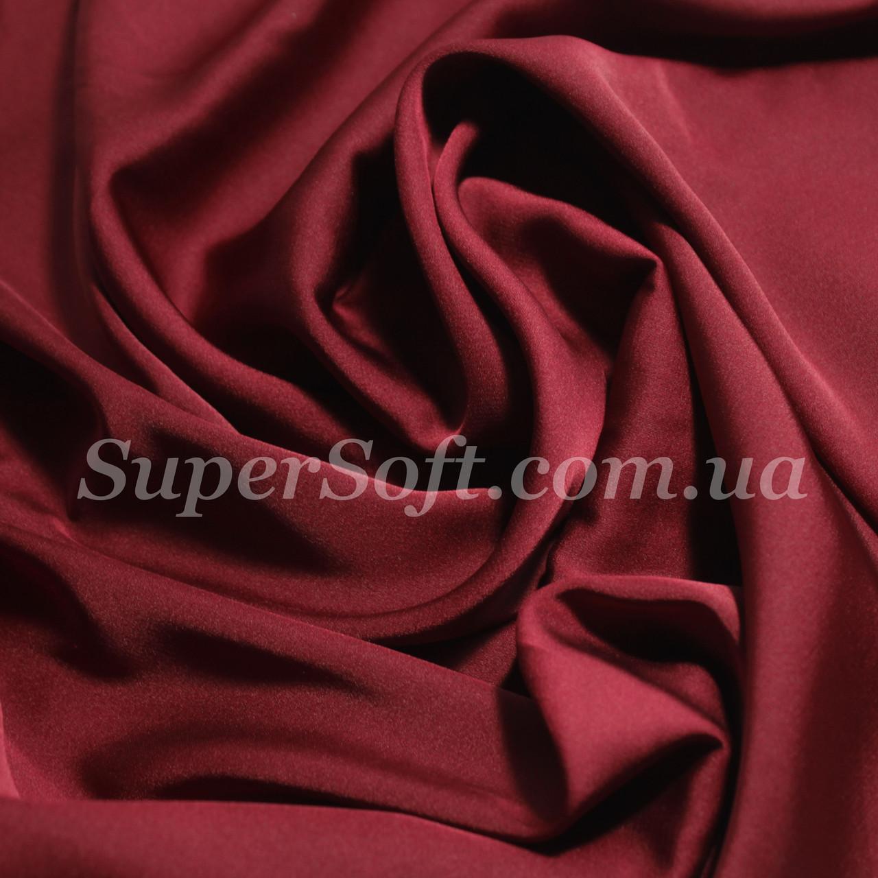 Ткань шелк армани бордовый