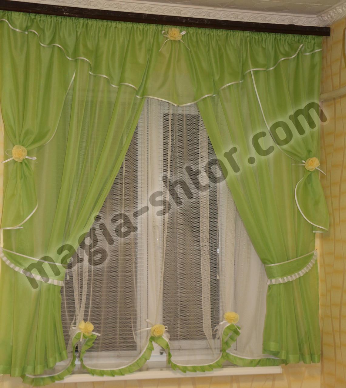 Тюль на окно кухни