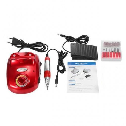 Профессиональный фрезер для маникюра педикюра Glazing Machine Nail Master 208 Красный 35000 аппаратный станок