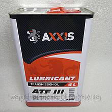 Масло для коробки в АКПП АТФ ATF Dexron III Axxis красная 4л (автомат)