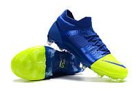 Футбольные бутсы Nike Mercurial Greenspeed 360 FG Royal Blue/Volt, фото 1