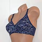 Бюстгальтер для беременных и кормящих хлопковый с кружевом синий Lanny Mode 9114, фото 8